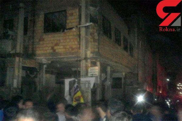 انفجار یک حسینیه در شهر صالحیه تهران + تصاویر