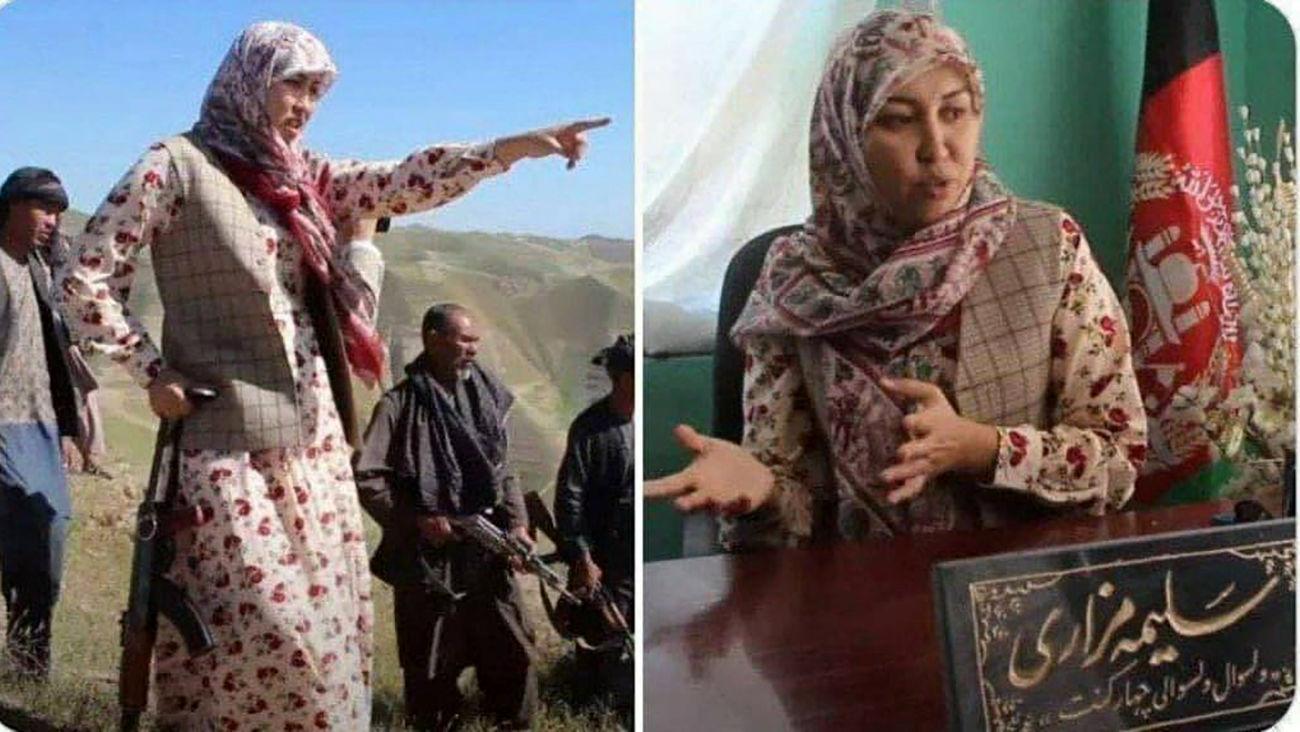 سلیمه مزاری فرماندار زن شهرستان «کنت» اسیر طالبان شد