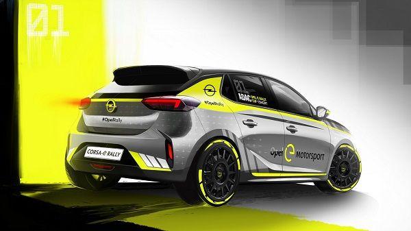 خودروی Opel Corsa-e، اولین اتومبیل برقی رالی +تصاویر