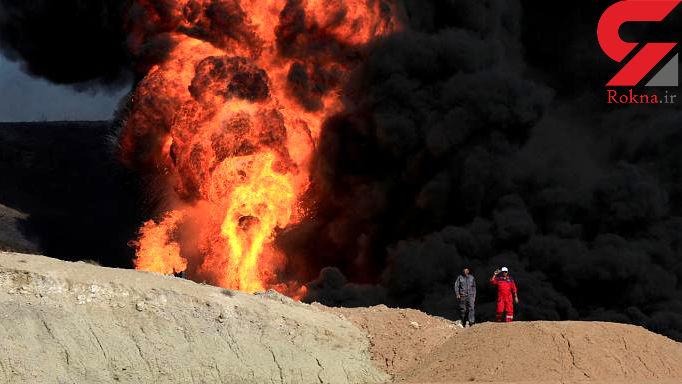 نیروهای پیشمرگه تاسیسات نفتی کرکوک را آتش زدند