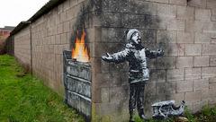 هنرمند خیابانی نقاشی جالب توجهی کشید