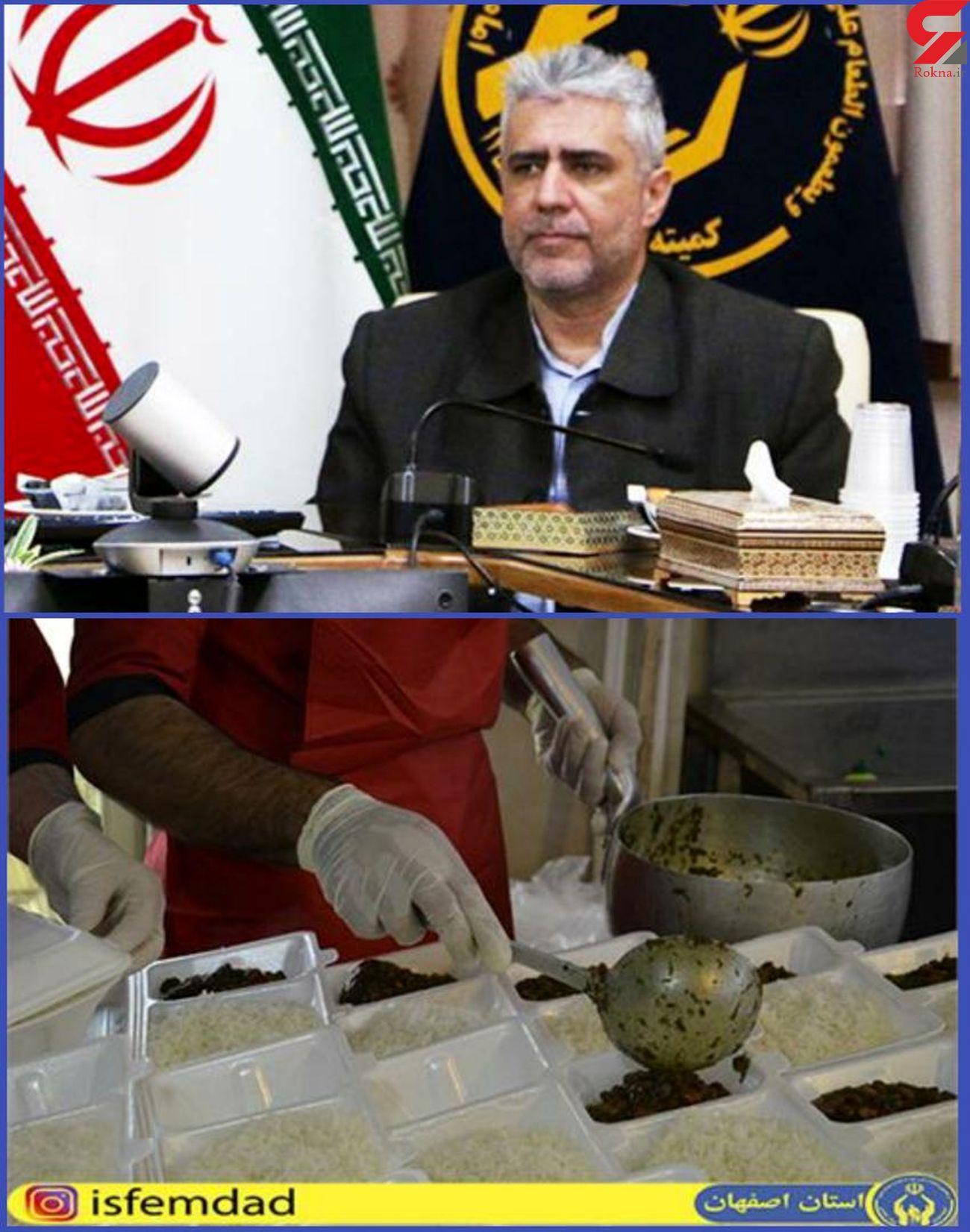 بیش از ۲ میلیون پرس غذای گرم میان مددجویان اصفهانی توزیع شد