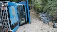 یک کشته و 13 مجروح در واژگونی وانت حامل کوهنوردان در نیشابور