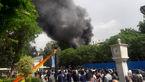 فوری / رستوران مسلم در بازار تهران آتش گرفت + عکس و فیلم