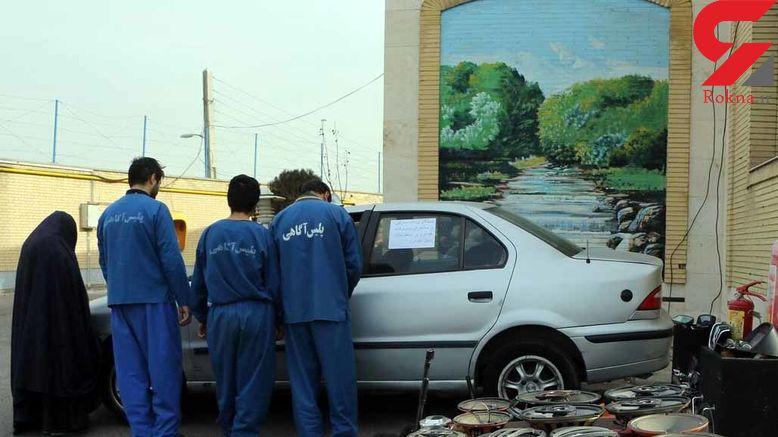 عکس یک زن با 3 مرد پلید بعد از بازداشت / در تبریز فاش شد