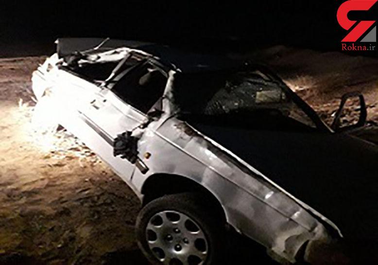 9 مصدوم در اثر واژگونی خودرو در یزد