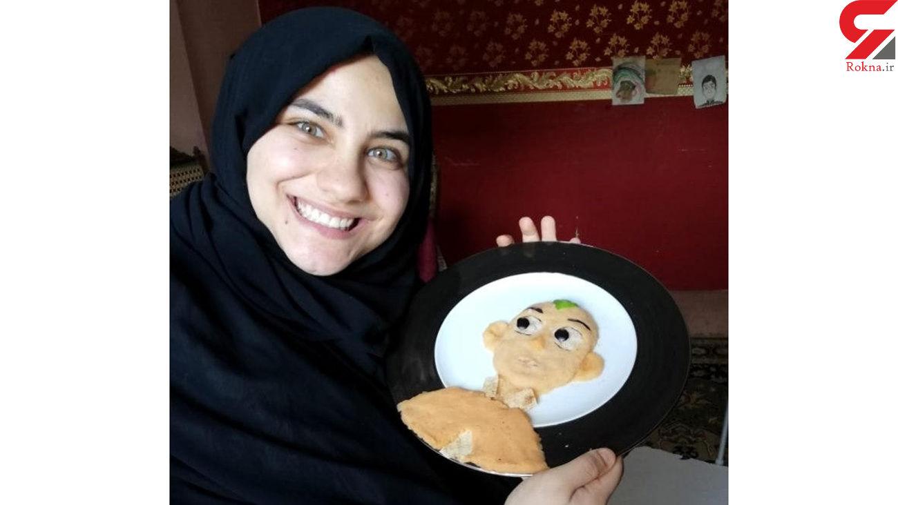 دختری که با تزئین کارتونی غذاها کودکان را از کرونا دور می کند!