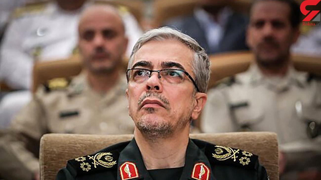 سرلشکر باقری برای رئیس ستاد ارتش عراق پیام تسلیت فرستاد