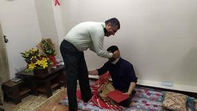 عیادت فرمانده انتظامی شهرستان آبادان از بسیجی ایثارگر آبادانی