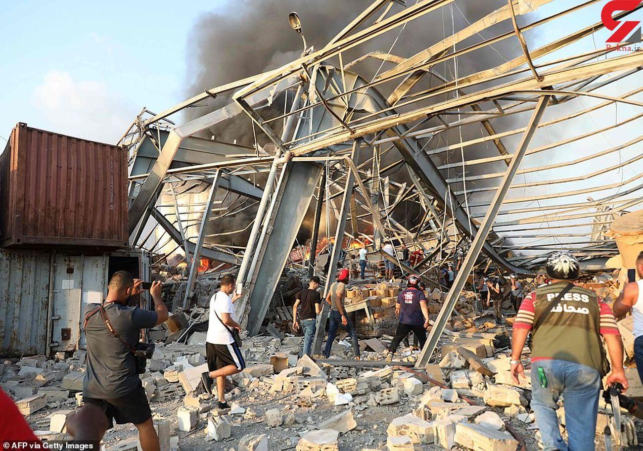 2 فیلم از نزدیکترین نما و فیلم هوایی از انفجار بیروت / فاجعه باورنکردنی