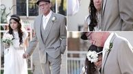 اشک های عروس 11 ساله و پدرش در جشن + عکس
