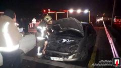 تصادف زنجیره ای بامدادی در جاده ورامین + عکس