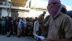 عکس اعدام وحشیانه داعشی ها / مردی را از پشت بام به میان جمعیت پرت کردند!