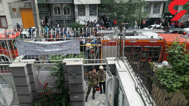نجات تهرانی های گرفتار در دود و آتش یک ساختمان + فیلم و عکس