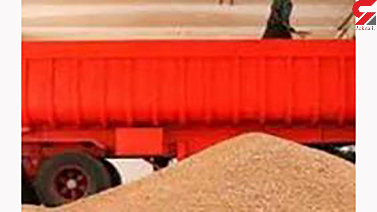 کشف 374 تن گندم قاچاق در زنجان