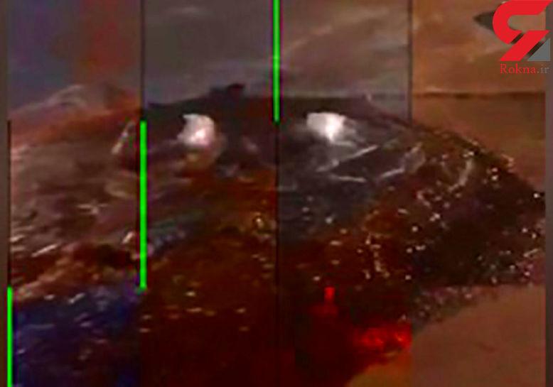 اتوبان ستاری تهران آلوده به فاضلاب شد + فیلم