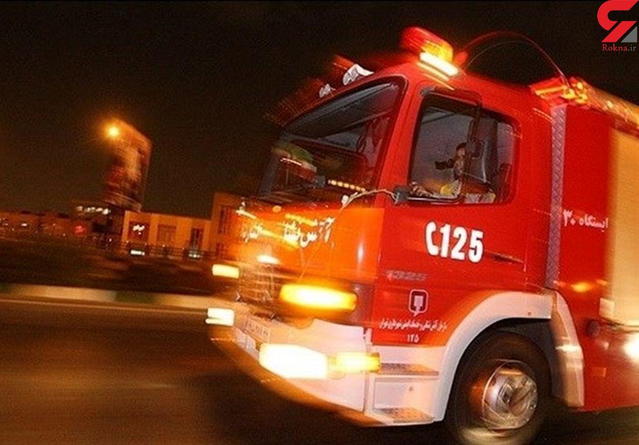 آتش سوزی در قلب اصفهان + جزییات