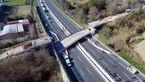 سقوط مرگبار پلی در بزرگراه +تصاویر دیدنی
