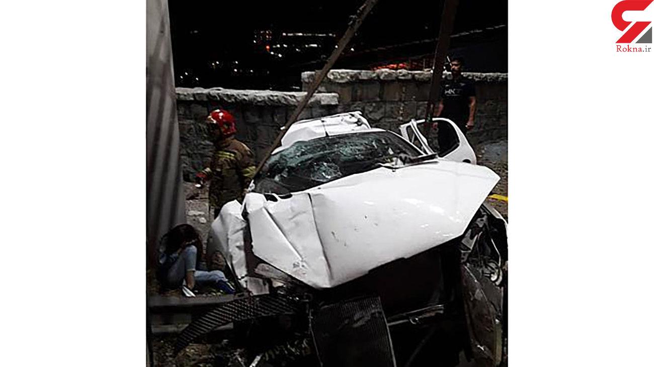 تصادف با گاردریل بزرگراه چمران 5 مصدوم بر جای گذاشت + عکس ها