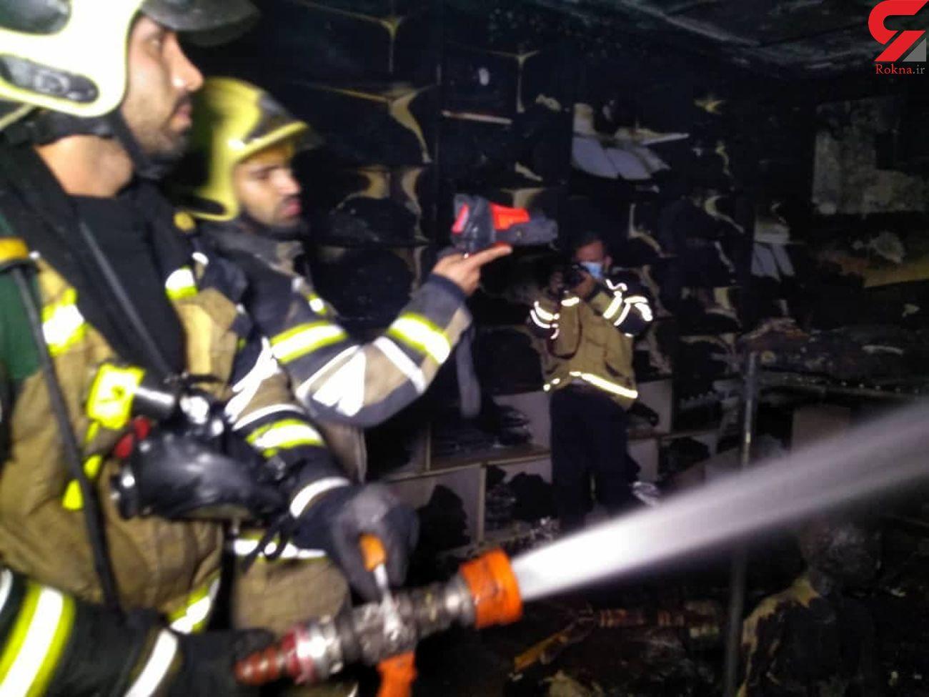 عکس های آتش سوزی در پاساژ مهستان + علت حادثه و فیلم
