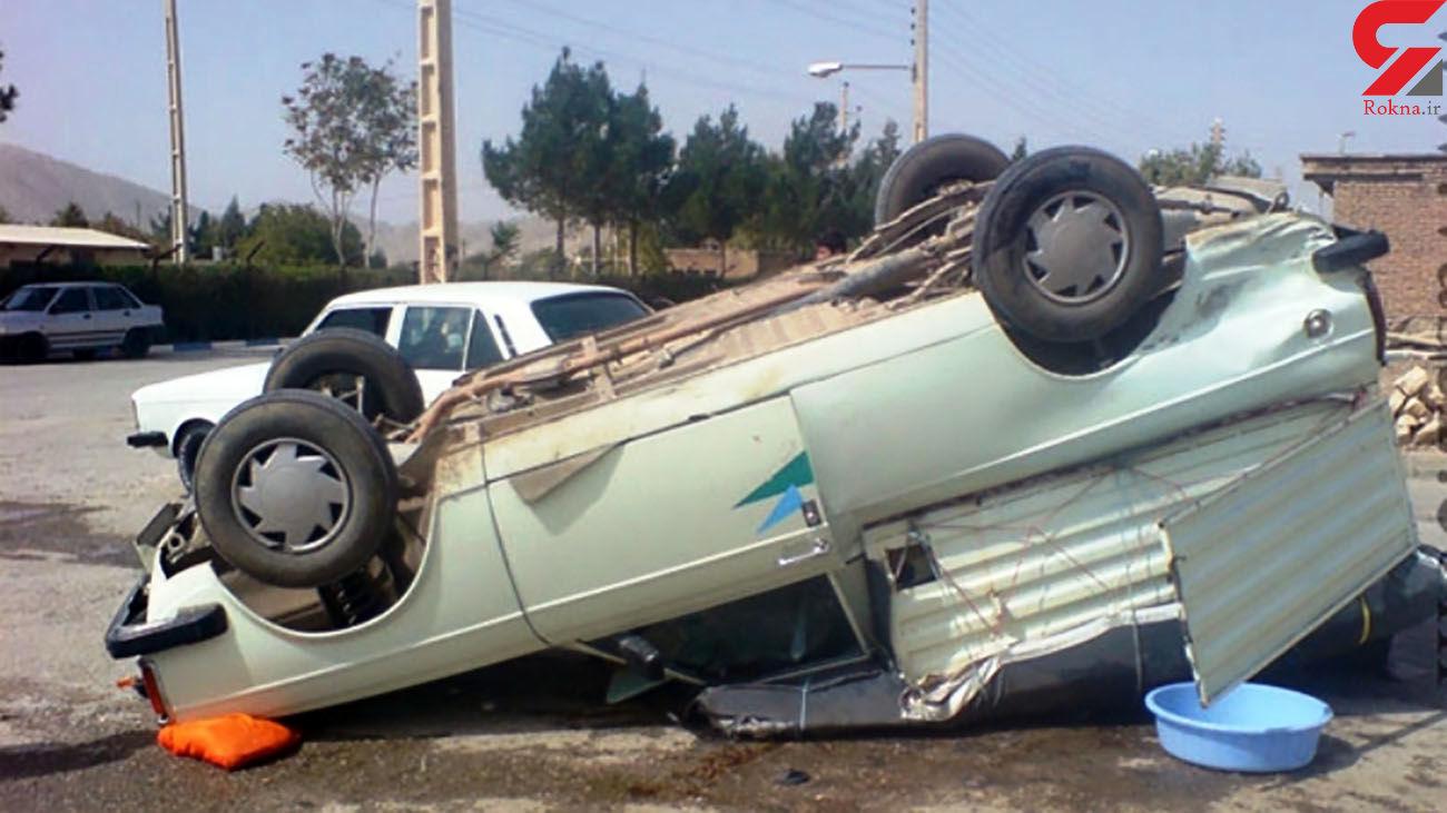 تصادف مرگبار در بافق با یک کشته و 2 مصدوم