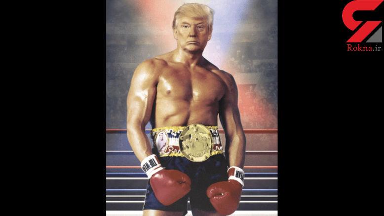 انتشار تصویر لخت دونالد ترامپ در توئیتر !+عکس