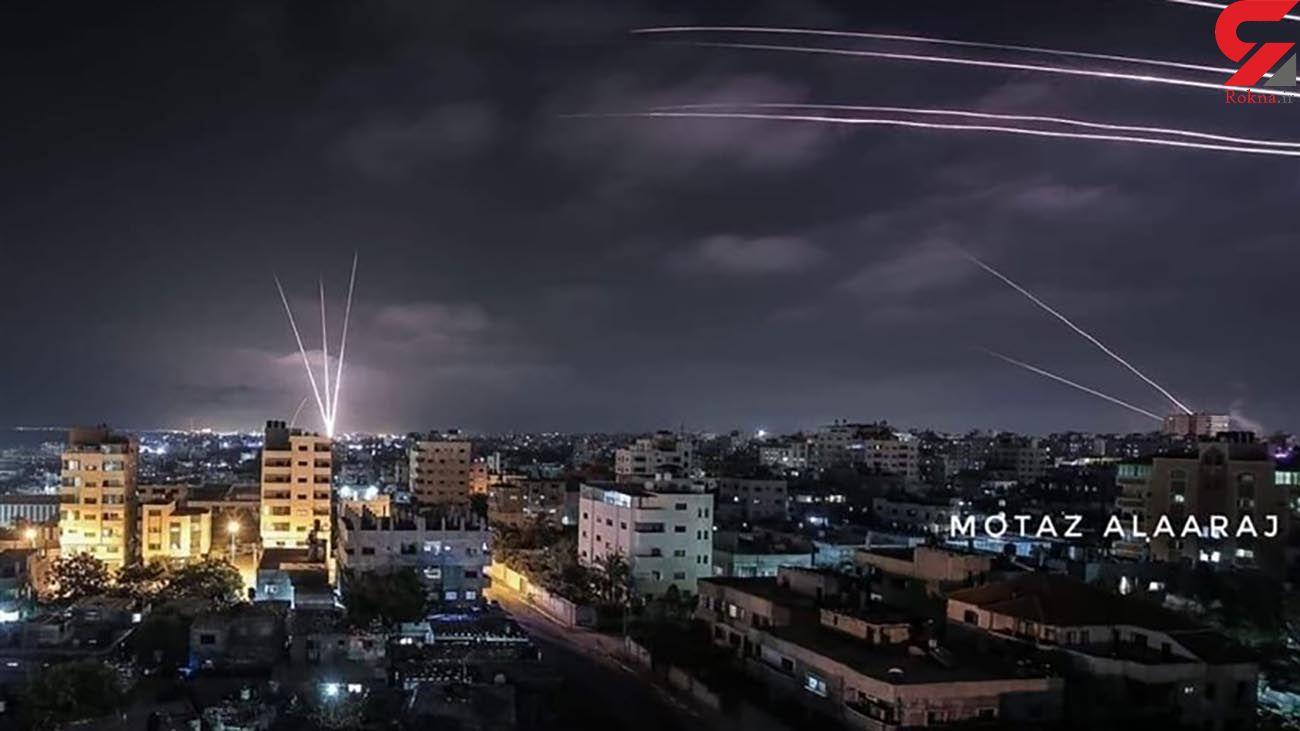فیلم حمله راکتی به مناطق اشغالی + جزئیات