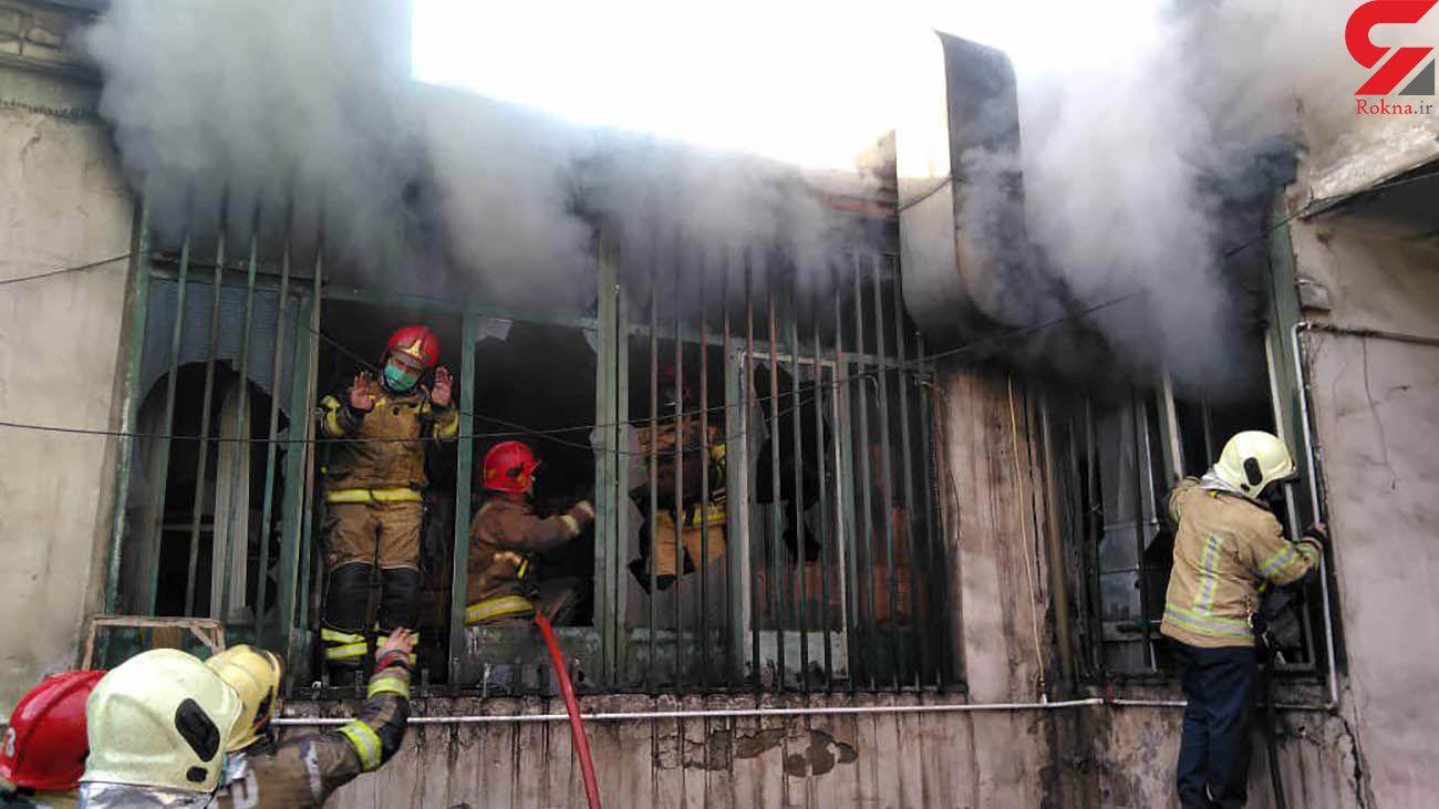 آتش سوزی هولناک در میدان رازی / صبح امروز همه وحشت زده شدند + عکس و فیلم