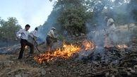 آتش سوزی جنگل های «قاضی خان» ایلام 4 صبح امروز مهار شد + عکس
