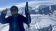 کوهنوردی گلاره عباسی در برف + عکس