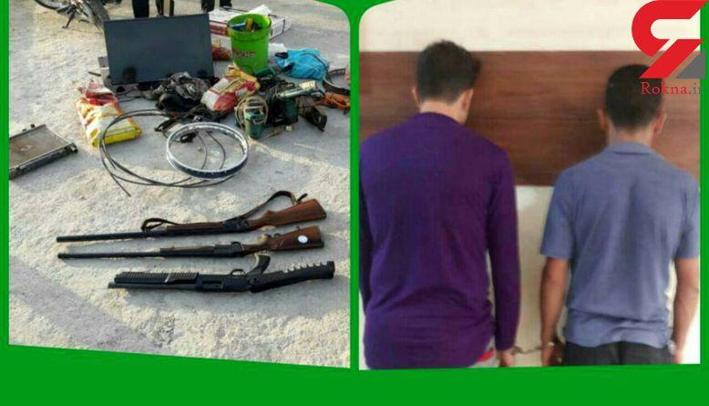 پلیس به پرسه های خطرناک این 2 جوان مسلح در آبادان پایان داد+ عکس