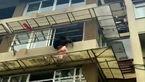 زنده ماندن کودک 2 سالهخوش شانس در سقوط از طبقه سوم