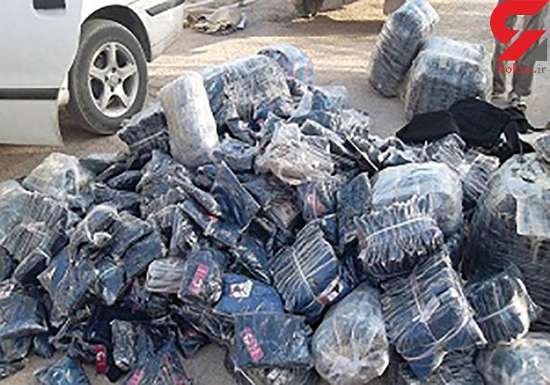 توقیف پراید با 2هزار ثوب لباس قاچاق در همدان
