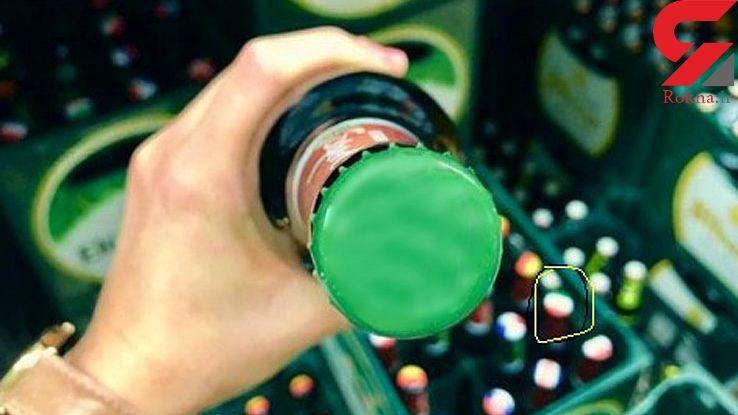 پرچم ایران روی بطری های مشروبات الکلی جام جهانی+عکس