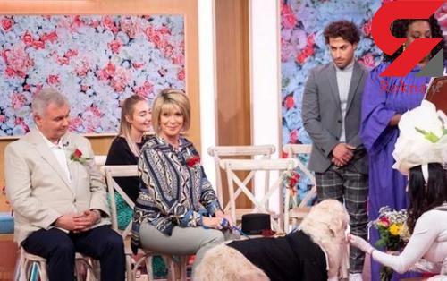 ازدواج عجیب یک زن با سگش در برنامه تلویزیونی+تصاویر