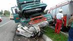 برخورد مرگبار پراید با کامیون در قلعه حسن خان