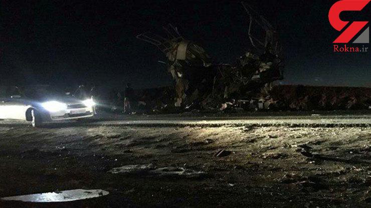 اولین فیلم و عکس از محل به شهادت رسیدن 20 تن از پرسنل سپاه در حمله تروریستی