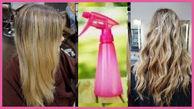 در خانه اسپری موج دار کردن مو بسازید
