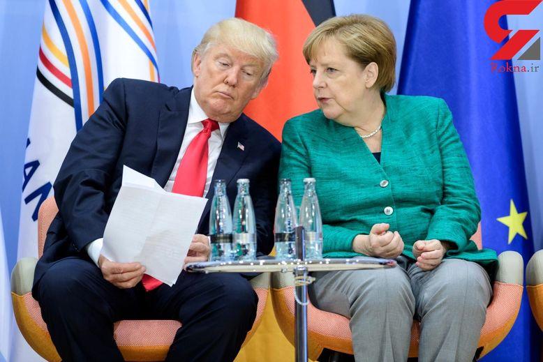 گفتوگوی ترامپ با مرکل درباره ایران!
