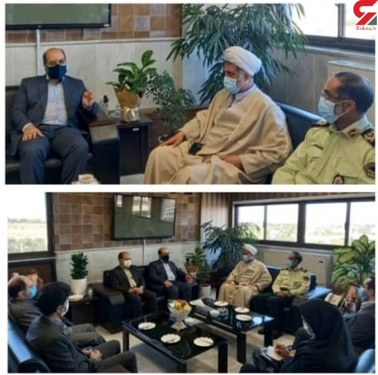 دیدار مدیر عامل شرکت اب منطقه ای با فرمانده انتظامی  به مناسبت هفته نیروی انتظامی