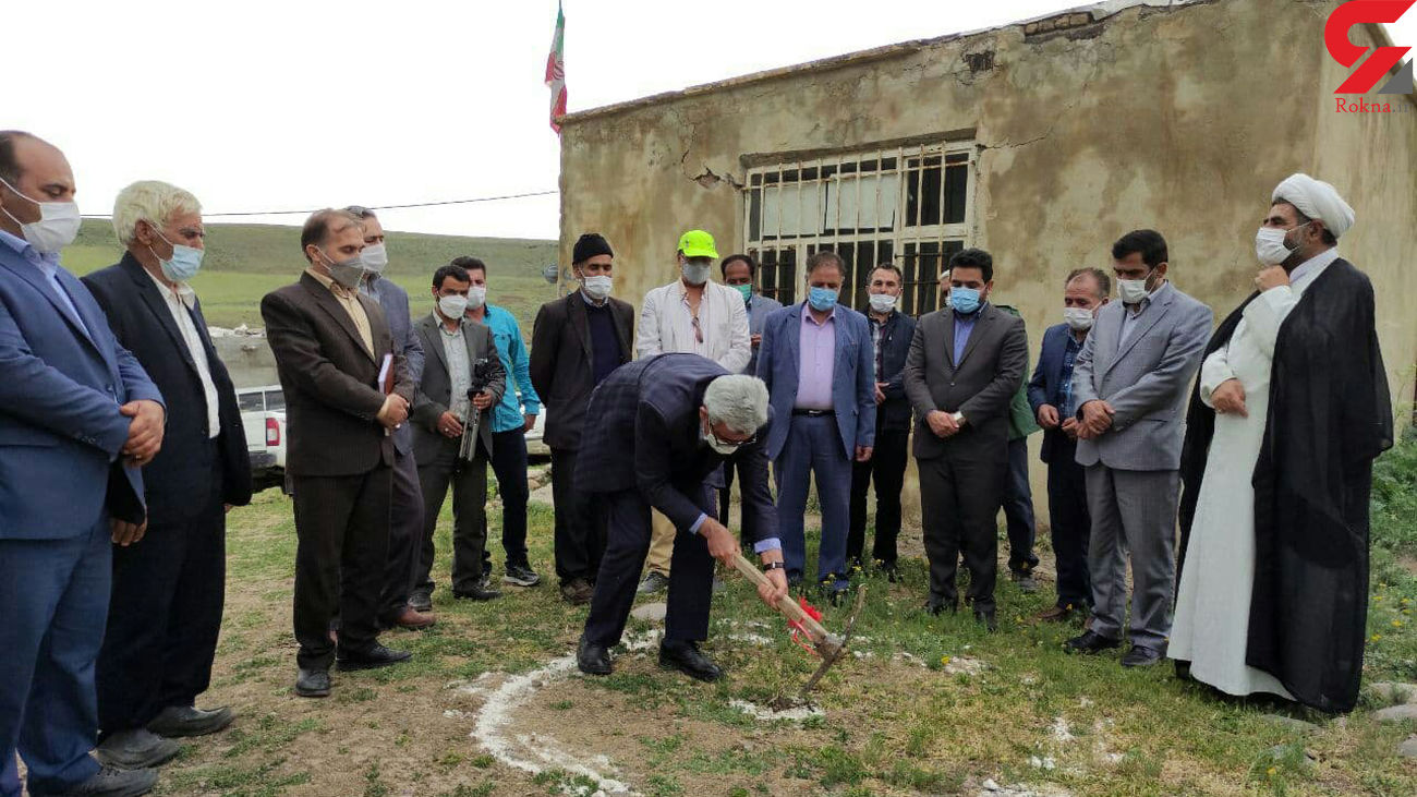 کلنگ احداث دو مدرسه خیر ساز در دو روستای بخش نظر کهریزی هشترود به زمین زده شد