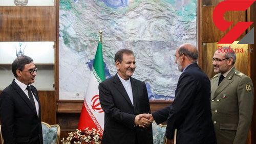 دیدار وزیر دفاع ملی افغانستان با جهانگیری+تصاویر