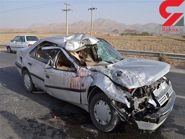 یک کشته و 7  مصدوم در واژگونی خودرو در مهریز
