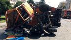 تصادف هولناک در بزرگراه باقری / 2 خاور همه چیز را بهم ریختند + فیلم و عکس