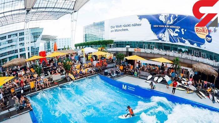 مسابقه موجسواری در فرودگاه مونیخ آلمان