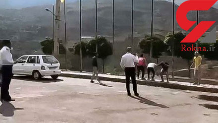 بشین پاشو دادن مأموران راهور به چند جوان در جاده چالوس! + فیلم