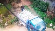 صحنه وحشتناک از بی احتیاطی راننده کامیون+فیلم