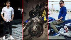 تصویر 2 جوانی در پیست موتور سواری آبادان به شکل تلخی کشته شدند+عکس
