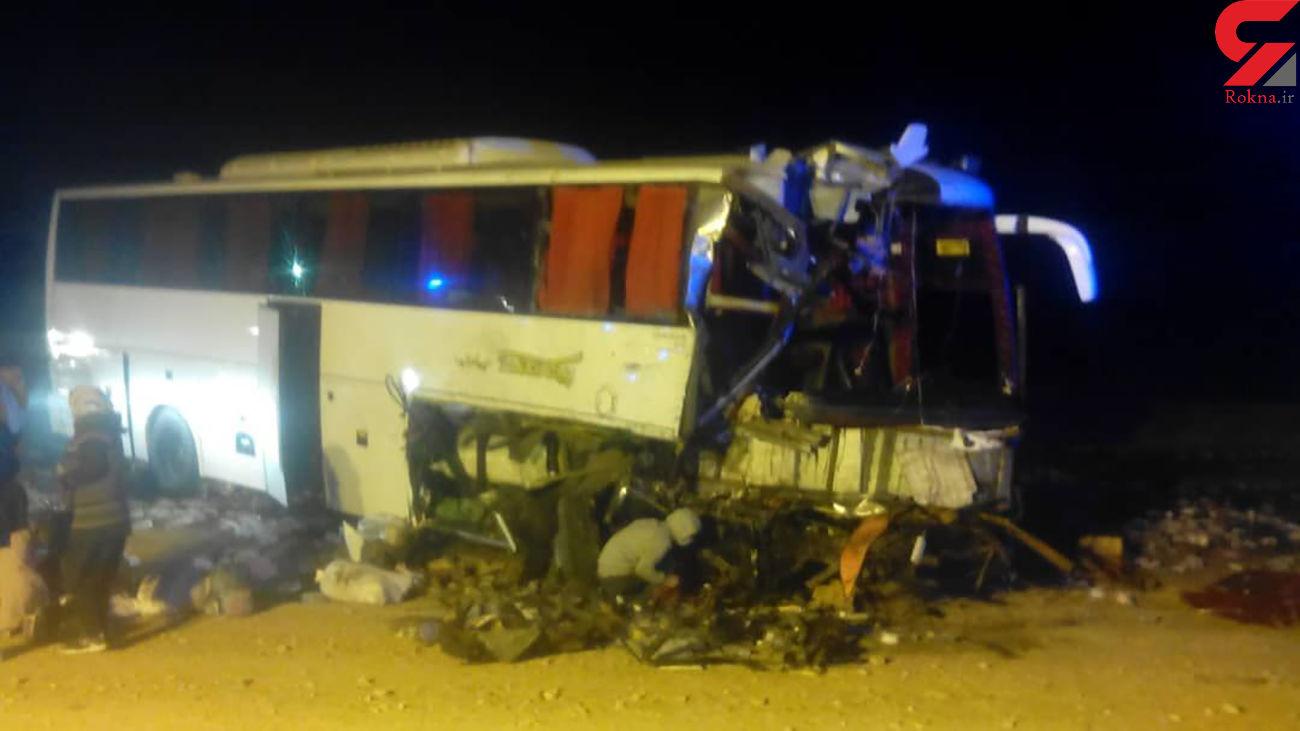 تصادف وحشتناک اتوبوس مسافربری و تریلی در جاده تهران به مشهد/37 مصدوم و 2 کشته تا این لحظه