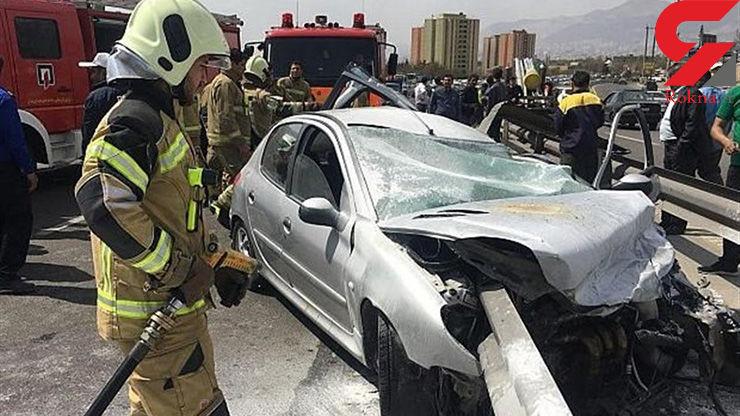 """تصادف در محور """"سنندج-کامیاران"""" ۴ کشته و ۳ مصدوم برجای گذاشت"""